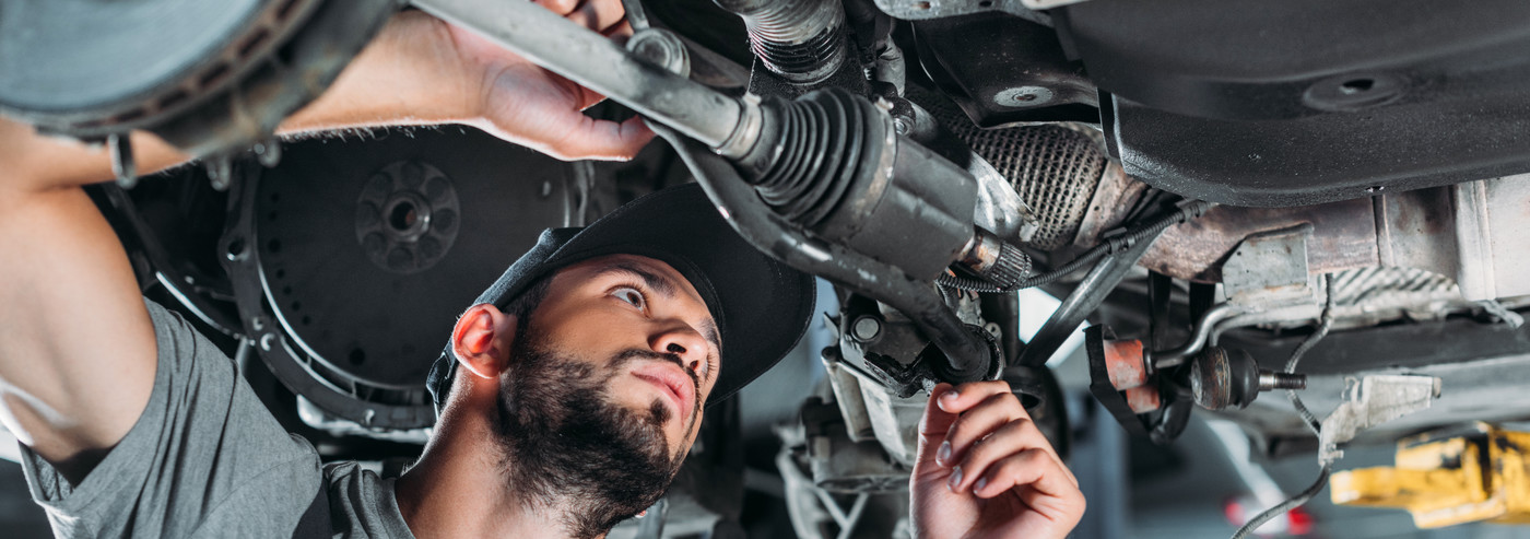 Mechanic under a vehicle - Car Repairs Bishop's Stortford
